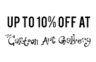 Up to 10% discount at Cartoon Art Gallery