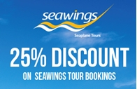 25% Discount on Seawings tour booking