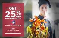 Get 25% Off Your Total Bill at Spice Island